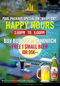 Happy Hours Pool Package on Nyepi Day